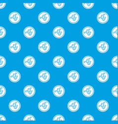 Lot of bacteria pattern seamless blue vector