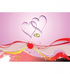 love waves vector image vector image