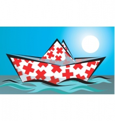 medical boat vector image vector image