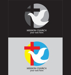 Mission church logo vector