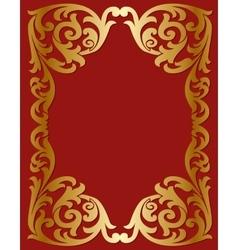 Openwork gold frame vector