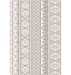 Ornamental Seamless Borders Set for Decor vector image vector image