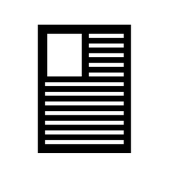 Paper document flat line icon vector
