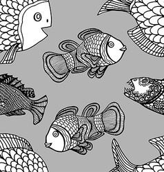 Pattern fish vector