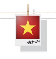 photo of vietnam flag on white background vector image