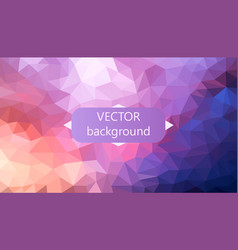 polygonal background can be used in cover vector image vector image