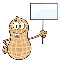 Protesting peanut cartoon vector