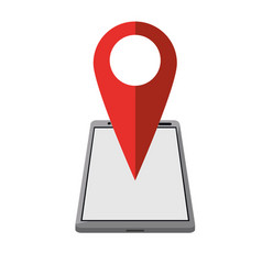 smartphone pin map location gps vector image vector image