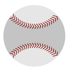softball ball icon isolated vector image