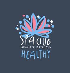 spa club beauty studio logo design emblem for vector image vector image