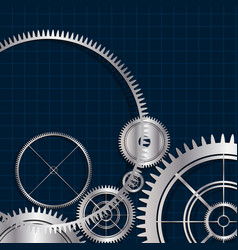 technological modern gears background vector image vector image