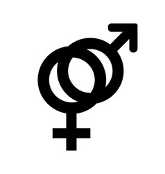 Outlines icons of gender male and female symbols vector