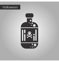 black and white style icon potion in bottle vector image
