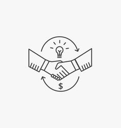 Partnership and handshake concept shaking hands vector