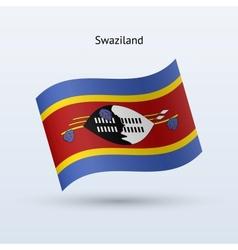Swaziland flag waving form vector