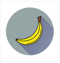 Bananasimple icon on white background vector