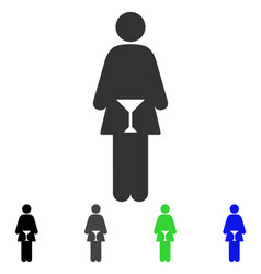 Wc woman flat icon vector