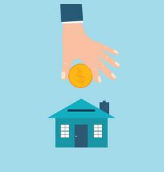 home saving vector image