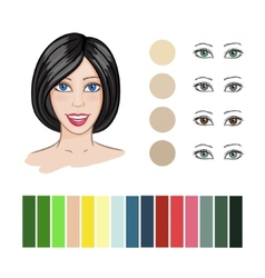 Hair color match vector