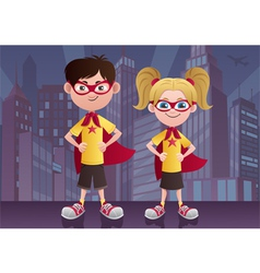 Super Kids City vector image