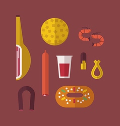 Spanish food vector