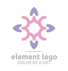 Logo icon elements lines design abstract vector