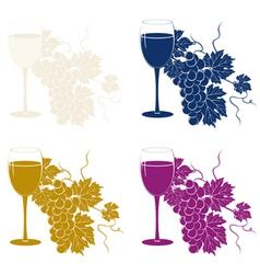 colored vine template vector image