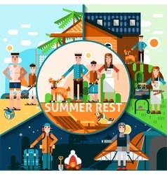 Summer rest concept vector