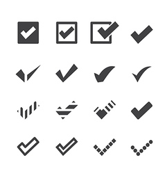 Confirm icons vector