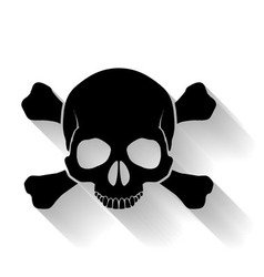 Skull and cross-bones vector