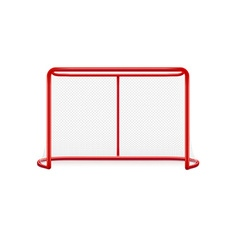 Red hockey goal realistic desig isolated on white vector