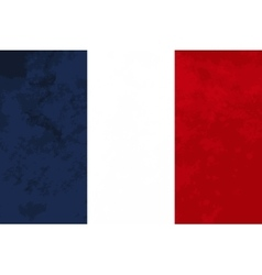True proportions france flag with texture vector