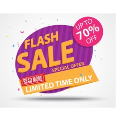Flash sale banner and best offer design vector