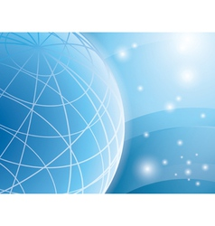 abstract light blue background with globe vector image vector image