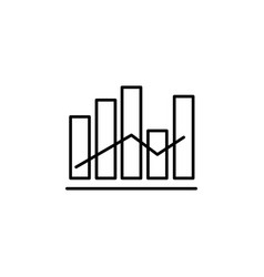 bar chart icon vector image