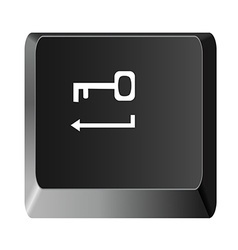 Button to enter the key vector image
