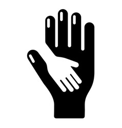 caring hand icon simple black style vector image vector image
