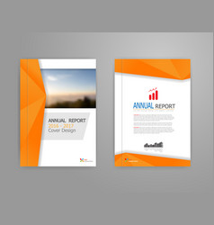 Cover annual report vector