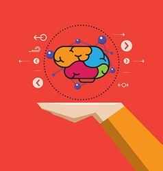 Creative brain in hand vector