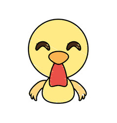 Draw chicken animal comic vector