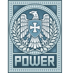 Eagle poster - symbol of power vector