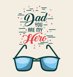 Fathers day related icons and lettering image vector