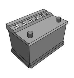 For automobile batterycar single icon in vector