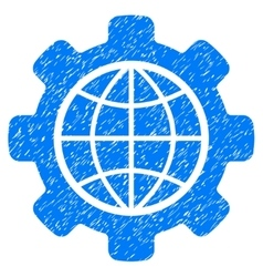 Global Options Grainy Texture Icon vector image