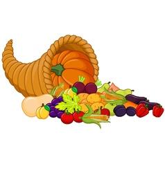 Harvest cornucopia vector