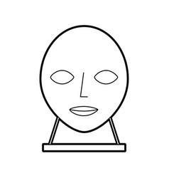 Head sculpture museum icon vector