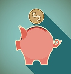 Icon piggy bank vector image vector image