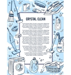 Laundry banners or flyer set for service good as vector