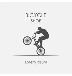 Logo bicycle shop vector