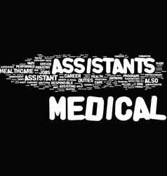 Medical assistant careers on the rise text vector